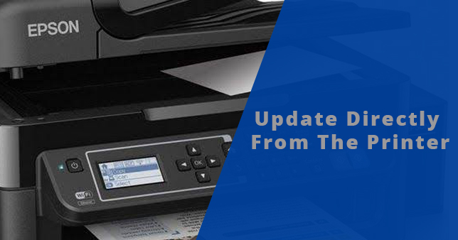 Update Directly from the Printer