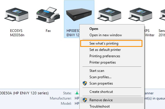 Change the Settings of the Printer