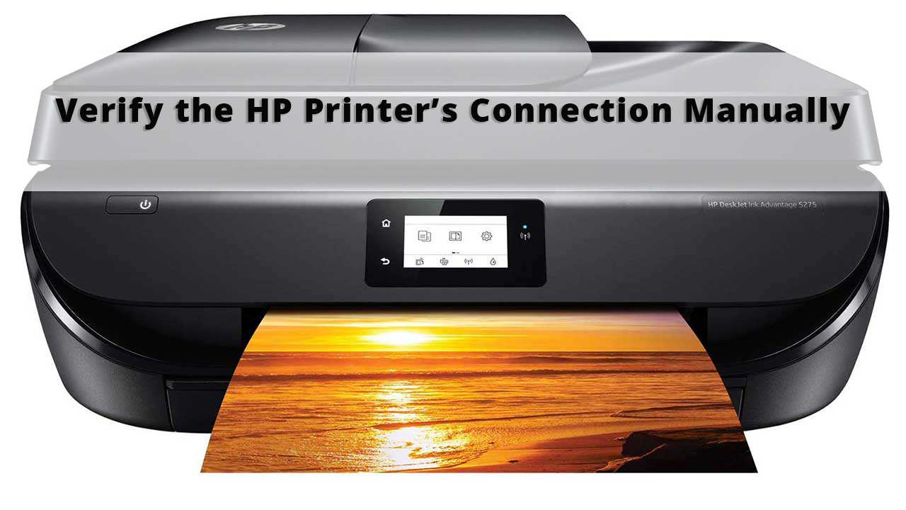 Verify the HP Printer's Connection Manually